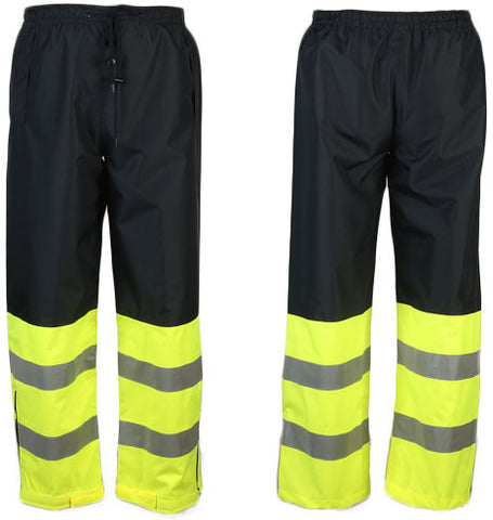 NAVY/LIME WAIST RAIN PANTS ; XG737C-E