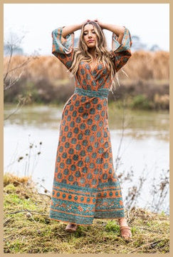 Savannah Maxi Dress - Patchouli Fair