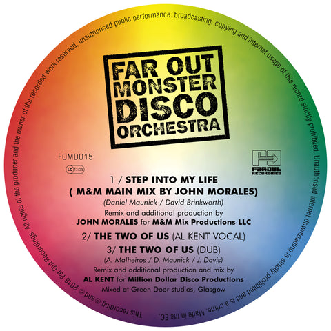 Far Out Monster Disco Orchestra - Step Into My Life (M&M Mix by John Morales) / The Two Of Us (Al Kent Remixes) [2018]