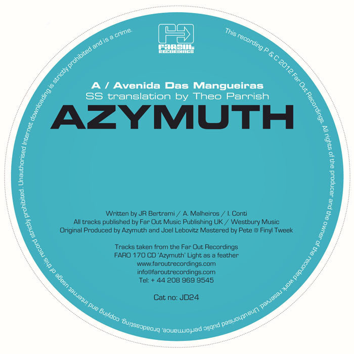 Azymuth - Avenidas Das Mangueiras (SS Translation By Theo Parrish) [2012]