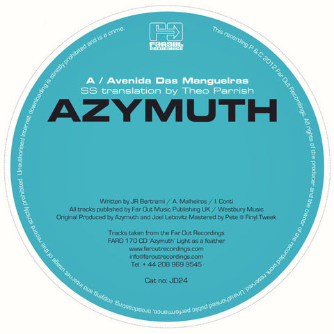 Azymuth - Avenidas Das Mangueiras (SS Translation By Theo Parrish)
