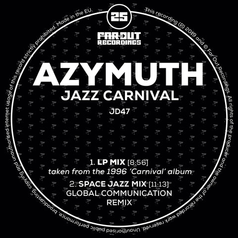 Azymuth - Jazz Carnival (Space Jazz Mix - Global Communication Remix) [2019]