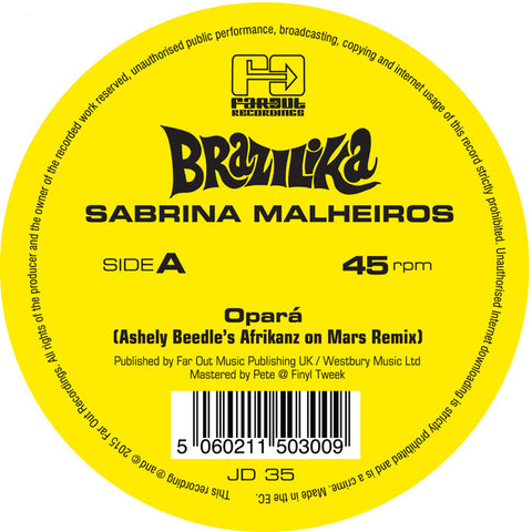 Sabrina Malheiros - Opará (Ashley Beedle's Afrikanz On Mars Remixes) [2015]
