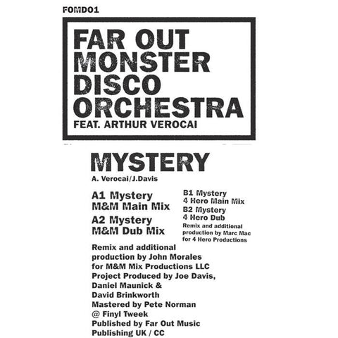 Far Out Monster Disco Orchestra - Mystery (John Morales & 4 Hero Remixes)