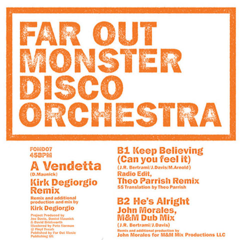 Far Out Monster Disco Orchestra - Vendetta (Kirk Degiorgio Remix)