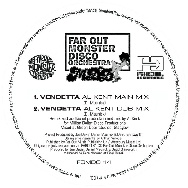 Far Out Monster Disco Orchestra - Vendetta (Al Kent Remix)
