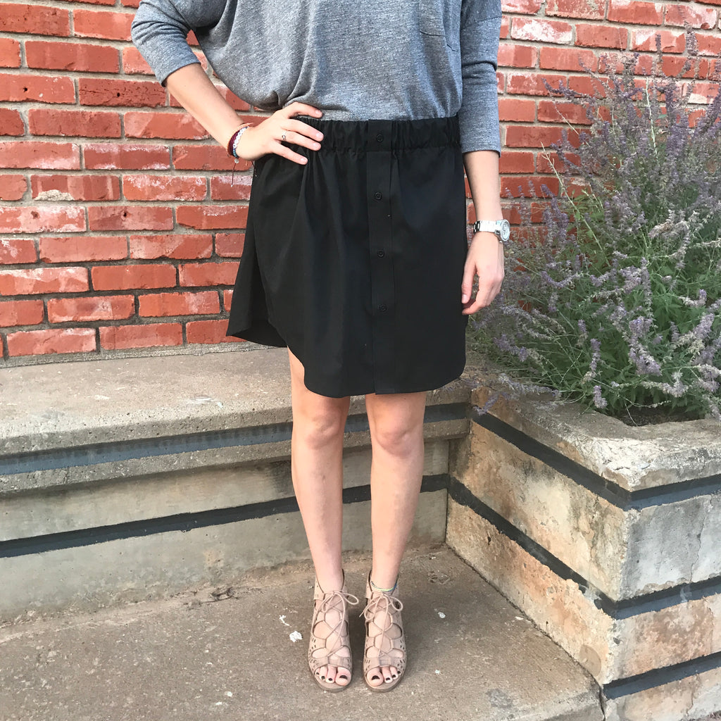 Onyx Oxford Skirt