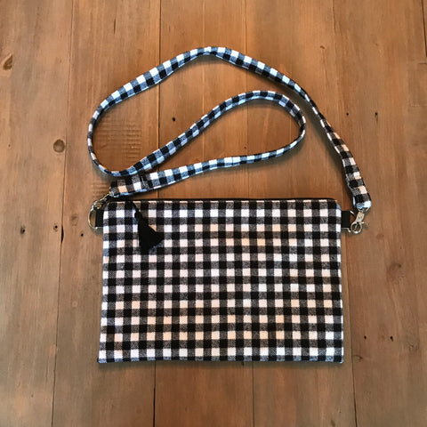 Black & White Buffalo Plaid Crossbody