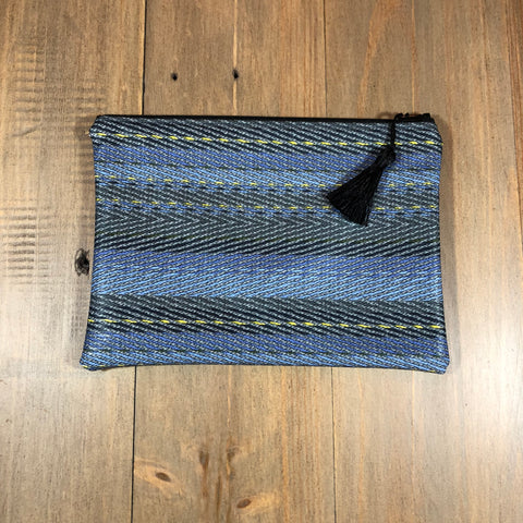Blue Stripe Small Clutch
