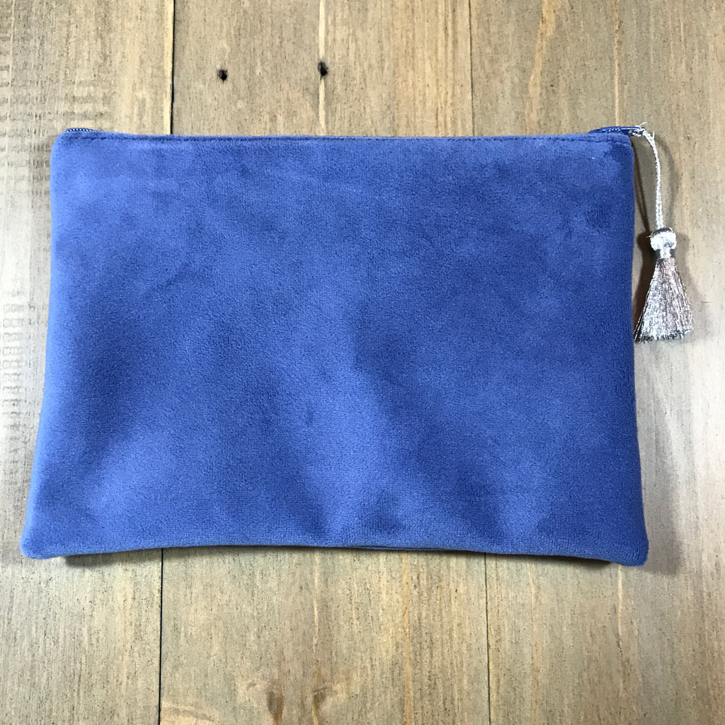 Blue Velvet Small Clutch