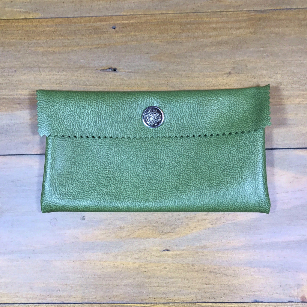 Green & Silver Mini Clutch