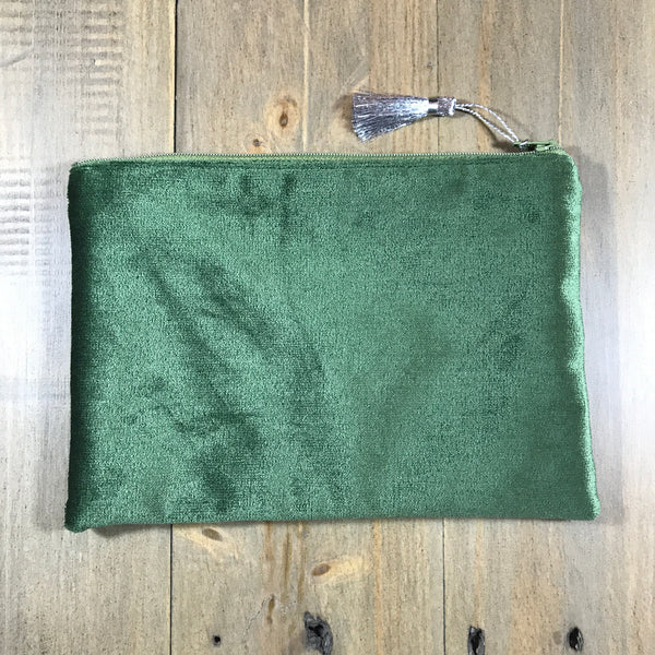 Green & Silver Small Clutch