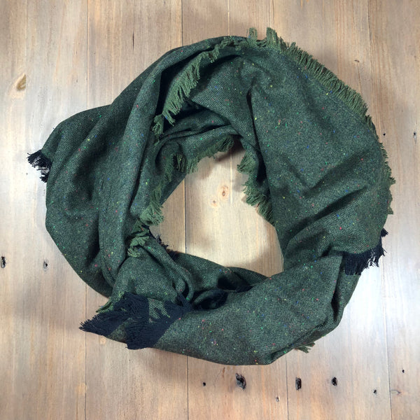 Green Speck Blanket Scarf