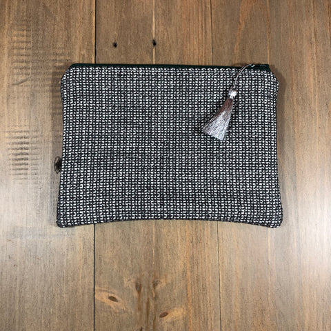Grey Tweed Small Clutch