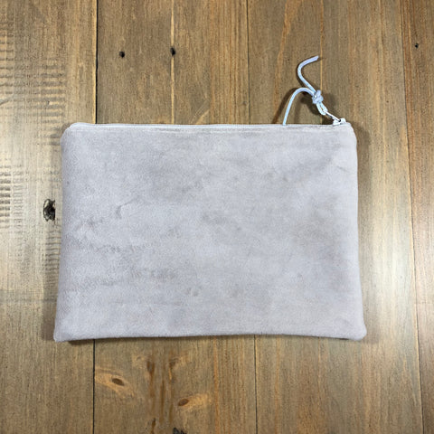 Light Grey Velvet Small Clutch