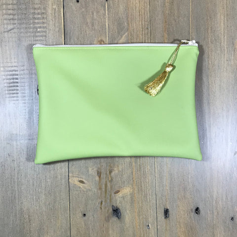 Lime Faux Leather Small Clutch