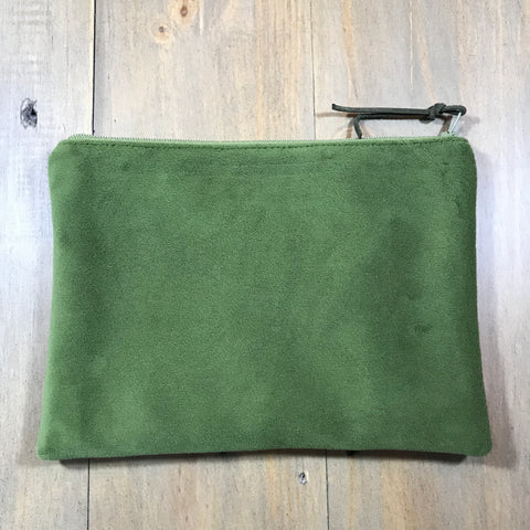 Green Velvet Small Clutch
