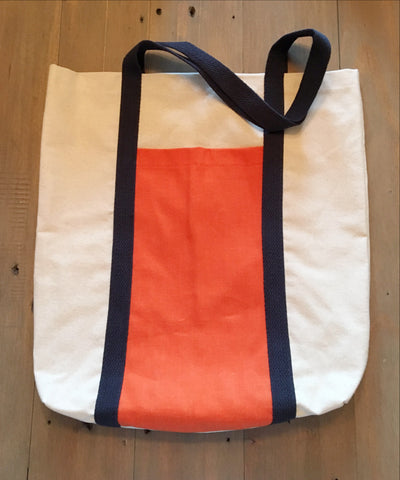 Navy & Orange Tote
