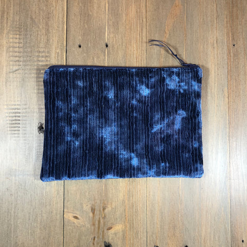 Navy Velvet Small Clutch