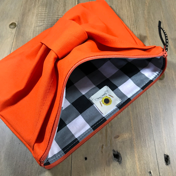 Orange Bow Clutch