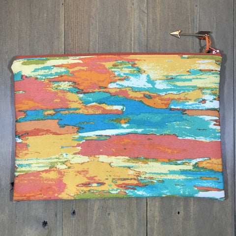 Orange Brush Clutch