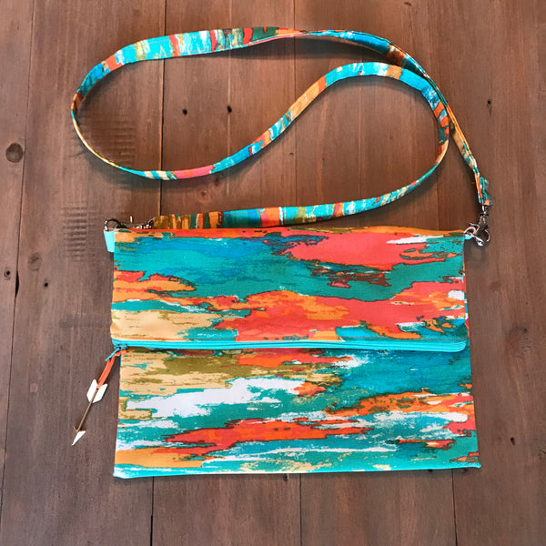 Orange Brush Crossbody