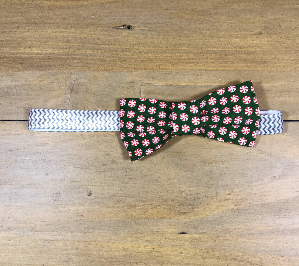 Peppermint & White Bow Headband