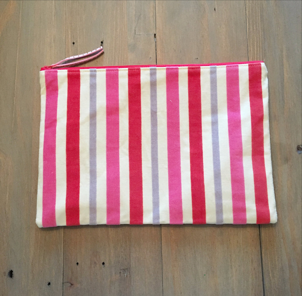 Velvet Stripe Clutch