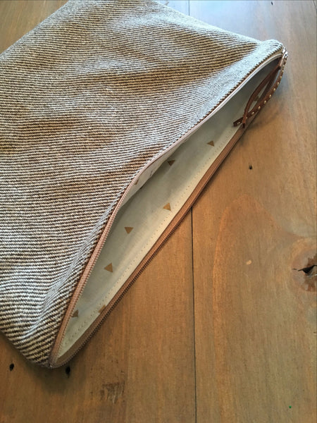 Brown Tweed Clutch