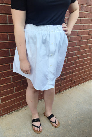 White Oxford Skirt