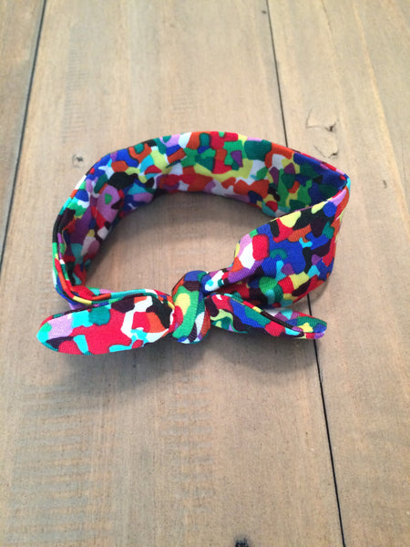 Speckled Multicolor Knotted Headband