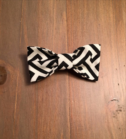Black & White Geo Print Bow