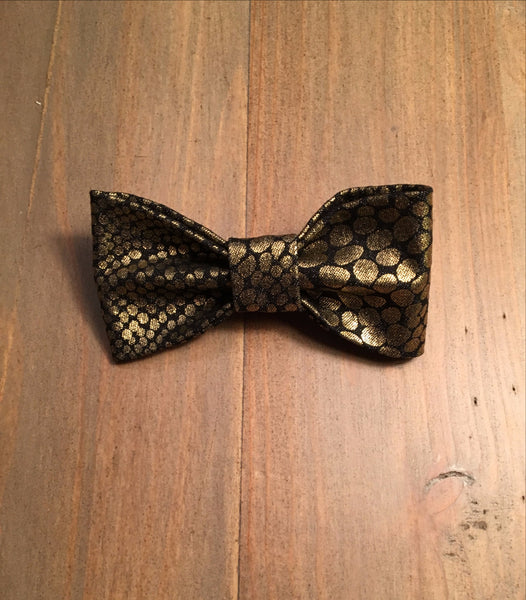 Black & Gold Reptile Print Bow