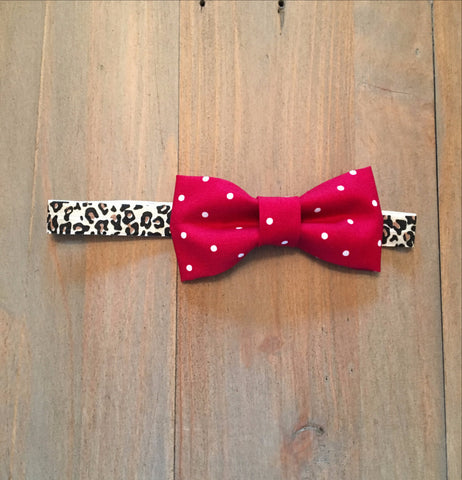 Red & Leopard Bow Headband