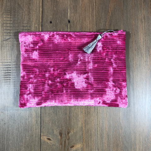 Bubblegum Pink Velvet Small Clutch