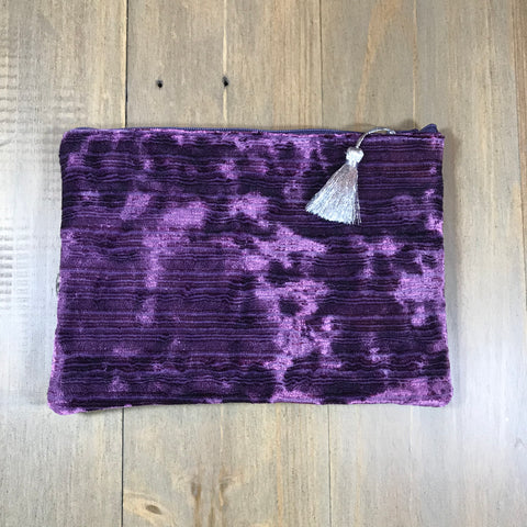 Purple Velvet Small Clutch