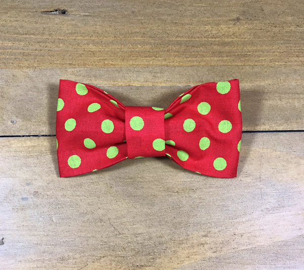 Red & Green Dot Bow