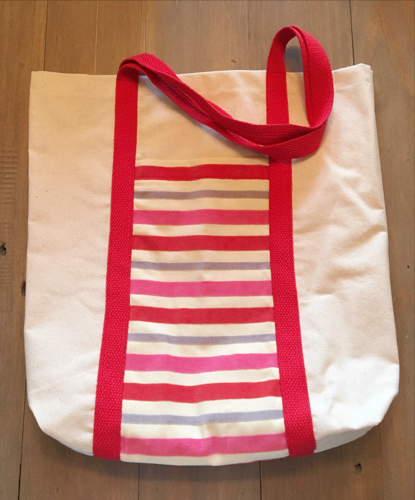 Velvet Striped Tote
