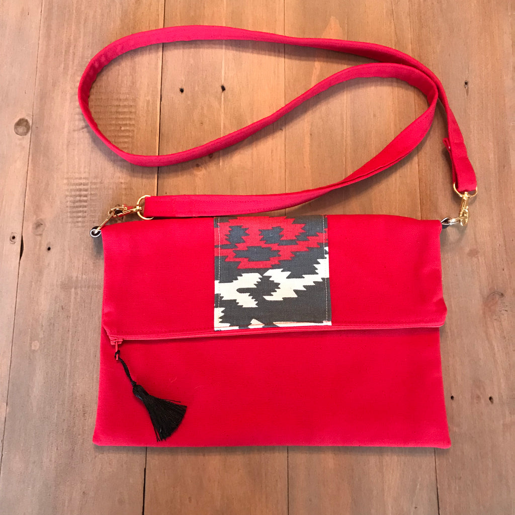Red Tribal Crossbody