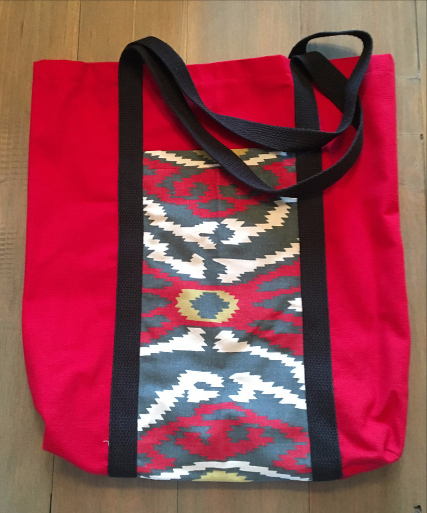 Red Tribal Tote