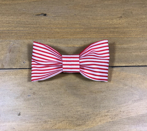 Red & White Striped Bow