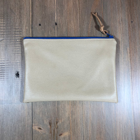 Tan Faux Leather Small Clutch
