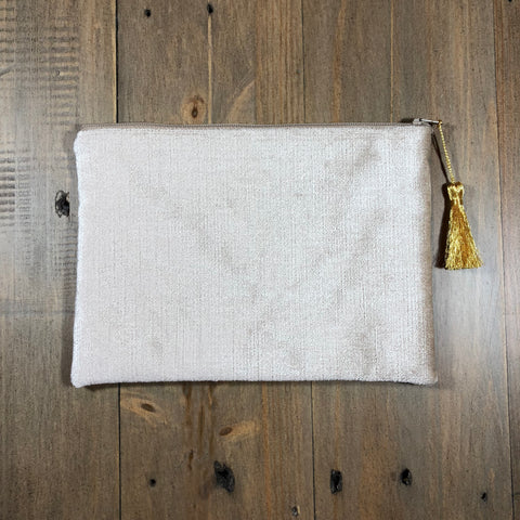 Tan Velvet Small Clutch