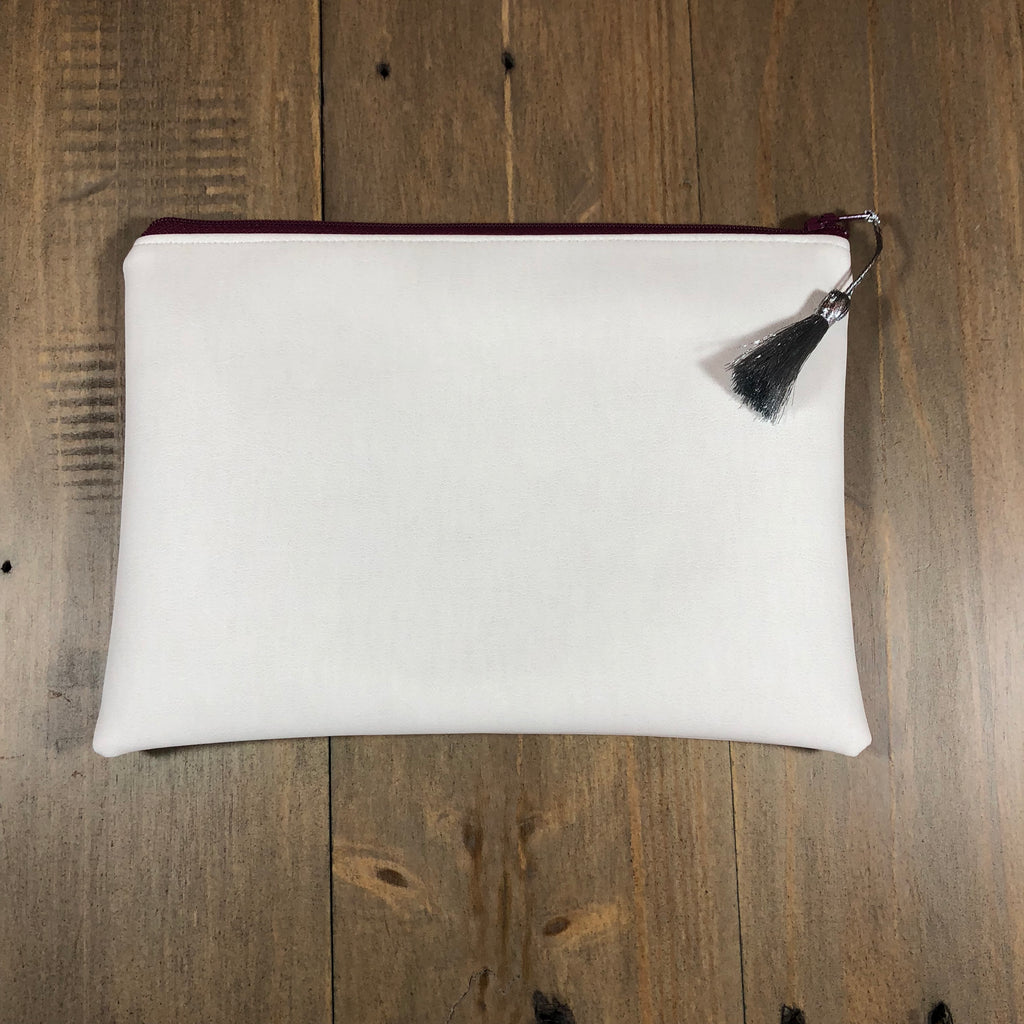 White Faux Leather Small Clutch