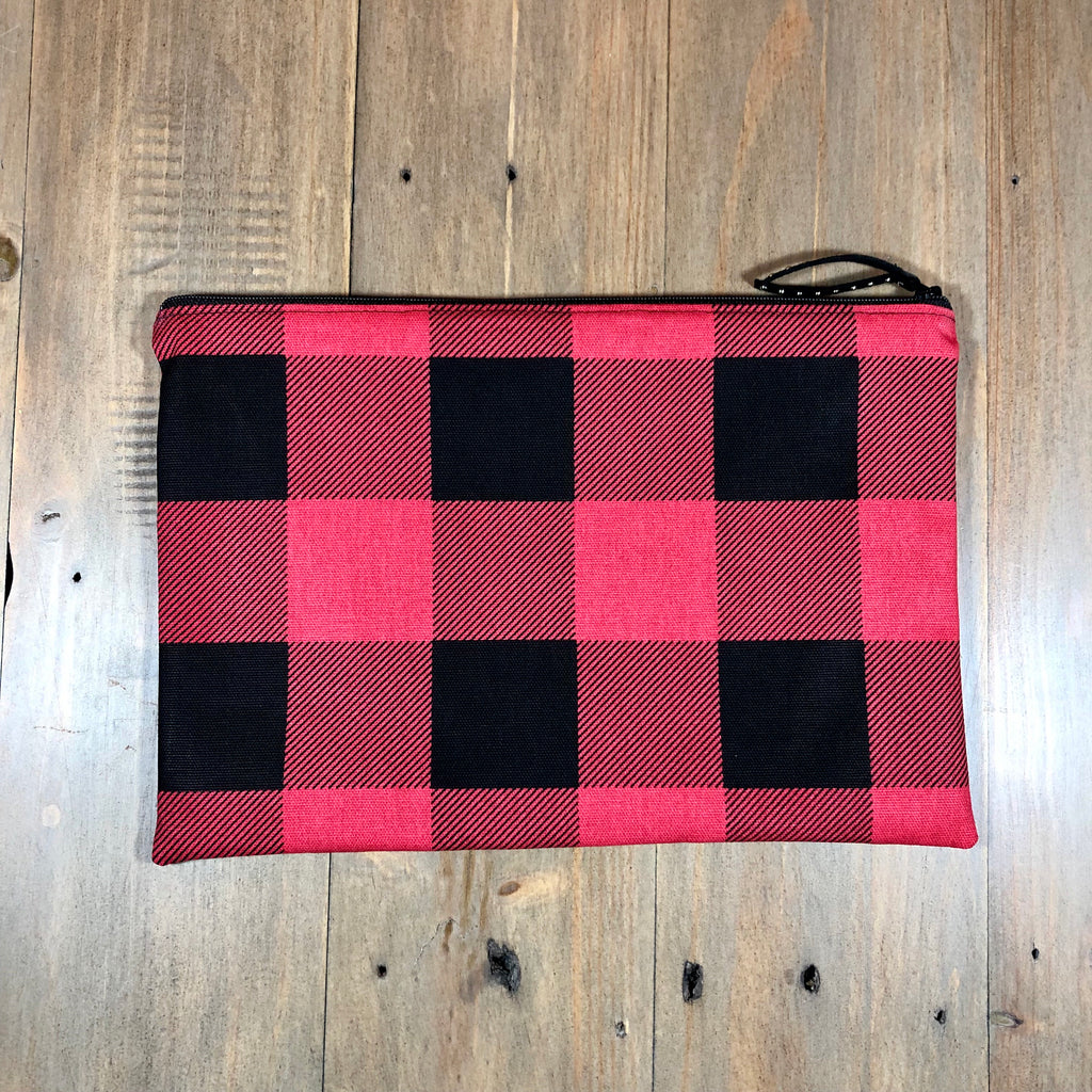 Red & Black Buffalo Plaid Clutch