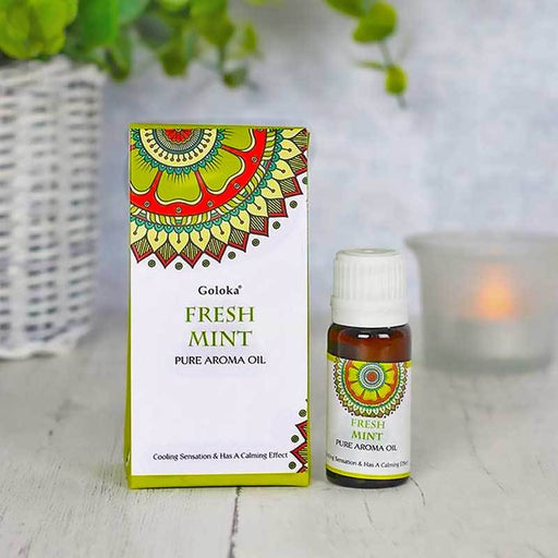 10ml Goloka Fresh Mint pure aroma oil fragrance - Gift Shop UK