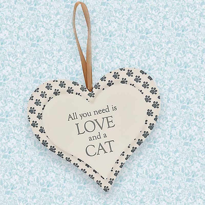 All I Need Is Love and a Cat/Dog Hanging Sign Gifts - The Fashion Gift Shop