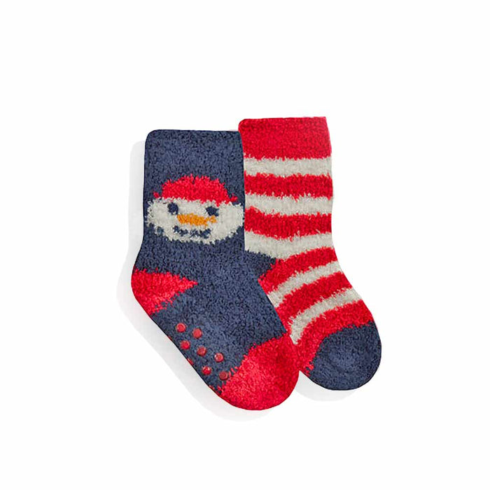 Baby Christmas Gripper Socks Fluffy Festive Twin Pack - Gift Shop UK