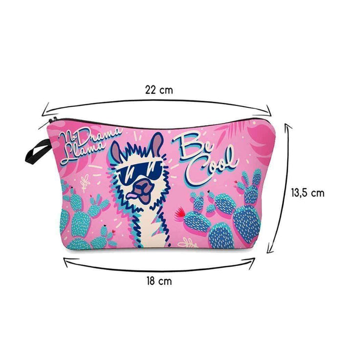 Be Cool Llama Cosmetic Brush Makeup Bag Childs Pencil Cases - The Fashion Gift Shop Ltd
