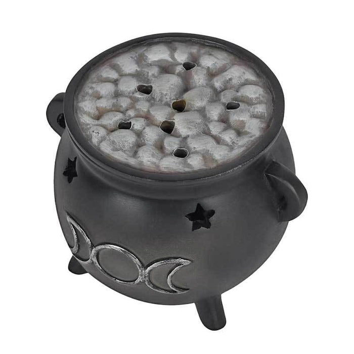 Black 3 Moons Cauldron Incense Fragrance Burner - Gift Shop UK